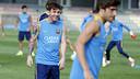 Leo Messi, durante el entrenamiento de este viernes / MIGUEL RUIZ-FCB