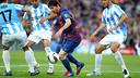 Messi a marqué cinq buts lors des 10 derniers matches face à Malaga / MIGUEL RUIZ - FCB