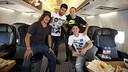 Puyol, Suárez, Iniesta and Messi on the way to Monaco / MIGUEL RUIZ - FCB