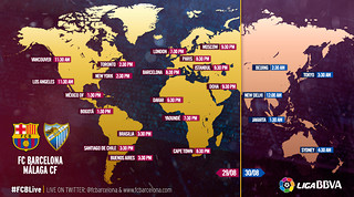 When and where to watch FC Barcelona v Málaga CF