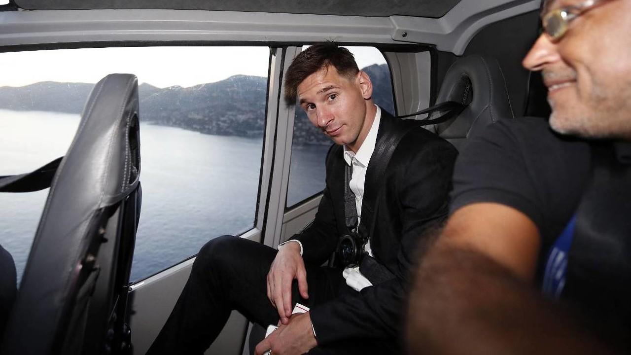 Messi on his way back from Monaco / MIGUEL RUIZ - FCB