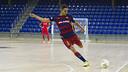 Jesús Aicardo opened Barça's account in Saturday's friendly / VÍCTOR SALGADO