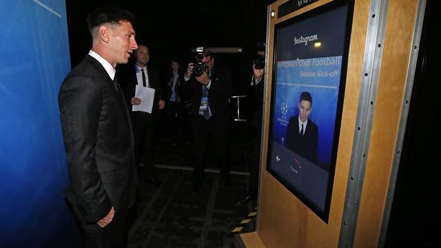 Leo Messi won UEFA's Best Player in Europe Award in Monaco on Thursday. / MIGUEL RUIZ-FCB