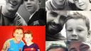 Kai Rooney with the Barça players / @coleenrooney (Twitter)