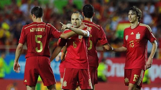 Andrés Iniesta, com a Seleção Espanhola