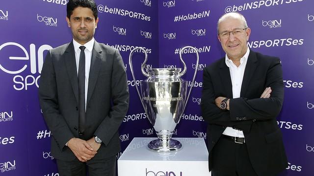 Nasser Al-Khelaïfi and Manel Arroyo / FCB