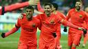 Rafinha and Messi playing at Eibar / MIGUEL RUIZ-FCB