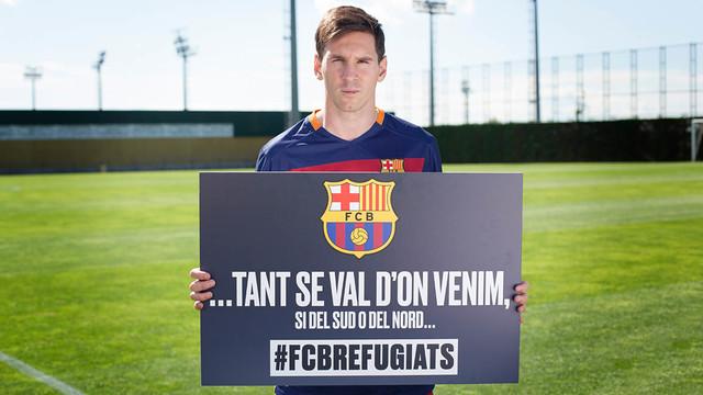 Messi, con la campaña 'No importa de dónde venimos'.