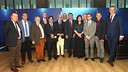 President Bartomeu and vice-president Vilarrubí with the international MPs / MARTA BECERRA