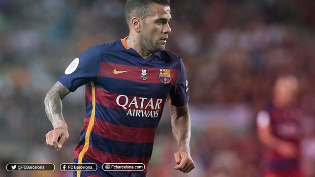 Dani Alves, 350 matches avec le Barça / FCB