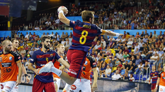 Tomás,capitan del Barça Lassa de balonmano / FOTO:MIGUEL RUIZ-FCB