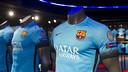 L'equipació blava ja està disponible per als aficionats / VÍCTOR SALGADO - FCB