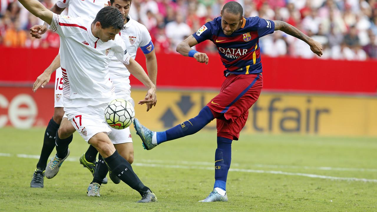 Neymar, contra el Sevilla / MIGUEL RUIZ-FCB