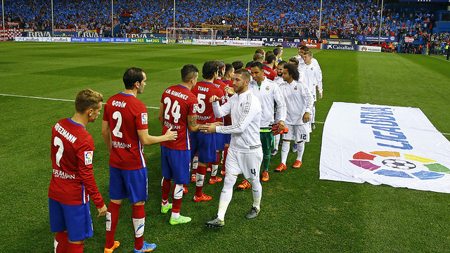 Atlético and Real Madrid drew 1-1 at the Calderón / www.clubatleticodemadrid.com