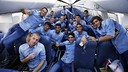 Les joueurs dans l'avion / MIGUEL RUIZ-FCB
