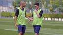 Javier Mascherano y Lionel Messi / MIGUEL RUIZ - FCB