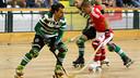 Luis Viana, uno de los delanteros, en una acción en la Liga. FOTO: HOQUEI PT