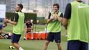 Now in his third full season with the team, Sergi Roberto is a happy camper. / MIGUEL RUIZ - FCB