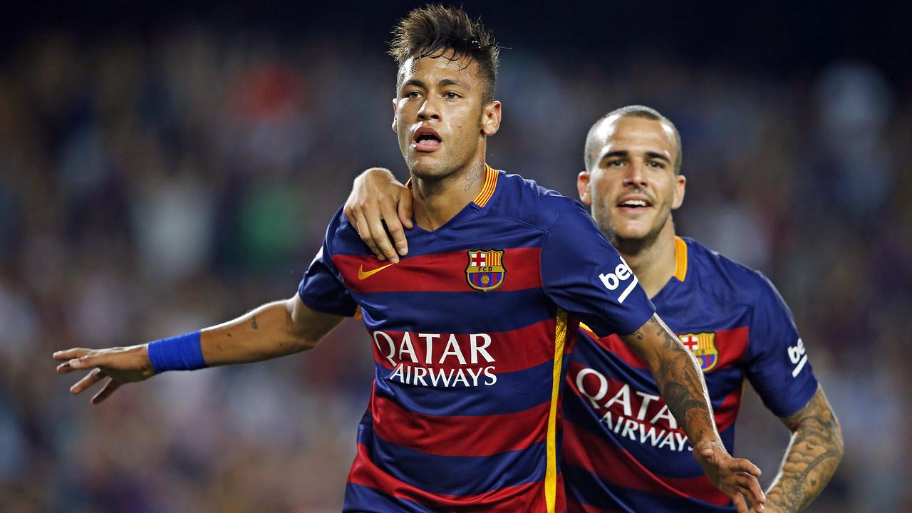 Neymar Jr celebra un dels gols que ha marcat aquesta temporada / MIGUEL RUIZ - FCB