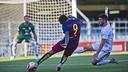 El camerunés Dongou quiere romper la mala racha de cara a puerta / VICTOR SALGADO-FCB