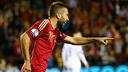 Jordi Alba ha jugado los últimos 20 minutos de partido con la selección española / SEFUTBOL.COM
