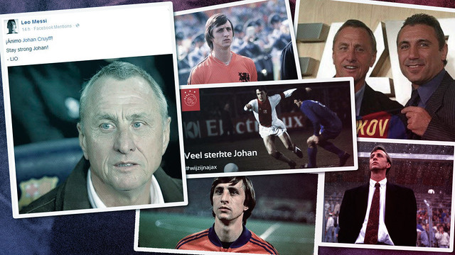 FCB montage of sports stars and their support for the Dutchman