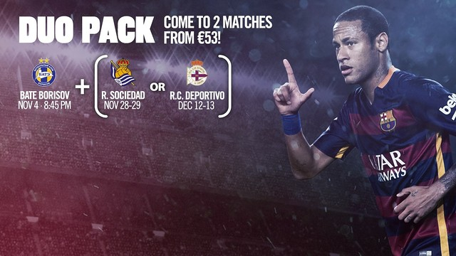 See two games at the Camp Nou for a bargain price of just 53 euros