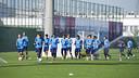 Los jugadores del filial quieren continuar con el buen momento en casa / VICTOR SALGADO-FCB