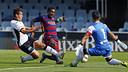 Dongou has a shot on goal / MIGUEL RUIZ - FCB