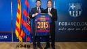 Josep Maria Bartomeu and Chikao Kamijima / GERMÁN PARGA - FCB