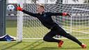 Ter Stegen during training / MIGUEL RUIZ - FCB