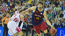Tomic shows his ability close to the basket with 27/33 in field goals. / VICTOR SALGADO-FCB