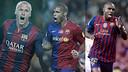 Mathieu, Henry et Abidal sont les buteurs français des Clasicos du Barça / Montage FCB