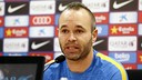 Andrés Iniesta speaks to the press two days before the Clásico / MIGUEL RUIZ - FCB