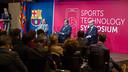 Josep Franch, Esade; Nacho Mestre, FC Barcelona, and Félix del Barrio, Oracle, during the symposium / GERMAN PARGA - FCB