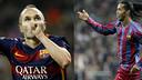 Iniesta et Ronaldinho sont entrés dans l'histoire du Clasico / FOTOMUNTATGE-FCB
