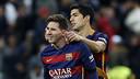 Moment de complicité entre Suarez et Messi durant le Clasico / MIGUEL RUIZ - FCB