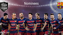 The eight Barça players nominated for the TOTY / UEFA