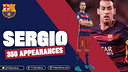 350th game for Sergio Busquets / FCB