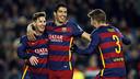Suárez, Messi y Piqué, goleadores / MIGUEL RUIZ - FCB