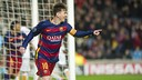 Leo Messi, después de marcar el primer gol a la Roma / VÍCTOR SALGADO - FCB