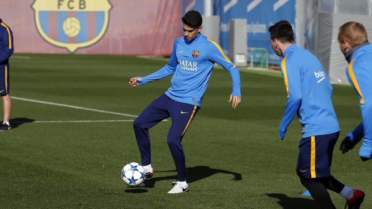 Bartra was among the players at training today / FCB