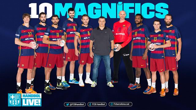 Els 10 magnífics del Barça d'handbol / FOTO:FCB