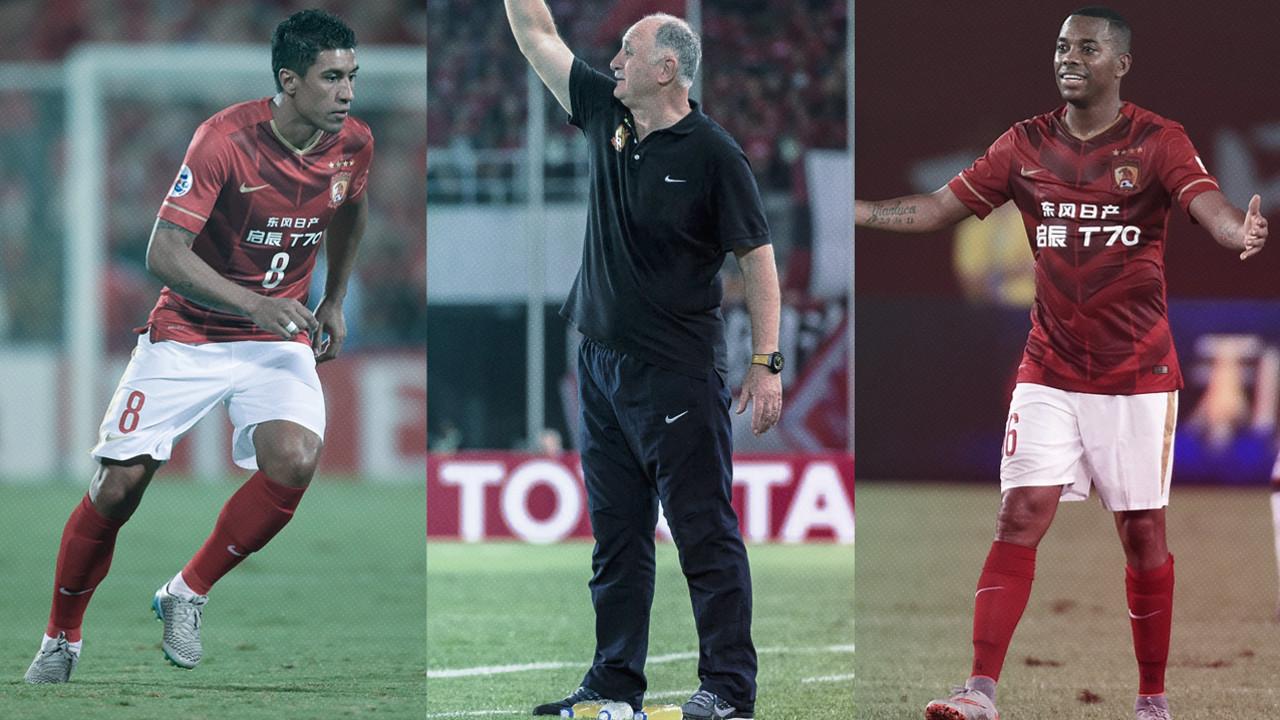 Paulinho, Scolari e Robinho podem enfrentar o Barça no Japão