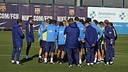 The team trains for the last time before the game on Friday / MIGUEL RUIZ-FCB