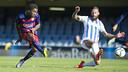 Dongou had a good chance in the first half / VÍCTOR SALGADO - FCB