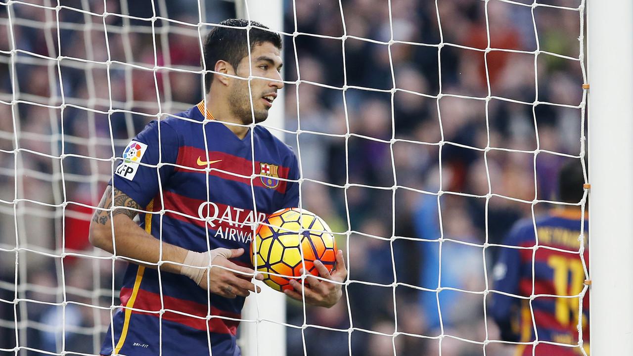 Luis Suárez va marcar un gol contra la Reial Societat / MIGUEL RUIZ - FCB
