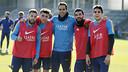Alba, Munir, Bravo, Arda i Bartra, guanyadors del partidet de l'entrenament / MIGUEL RUIZ - FCB