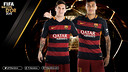 Messi et Neymar sont finalistes pour le Ballon d'Or 2015 / FCB