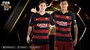 Leo Messi y Neymar Jr, finalistas al Balón de Oro 2015 / FOTOMONTAJE FCB